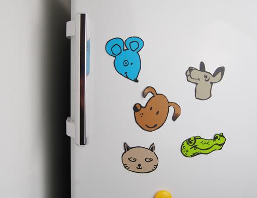 Fertig, schon versammelt sich eine lustige Tierschar auf dem Kühlschrank, oder dem Magnetboard