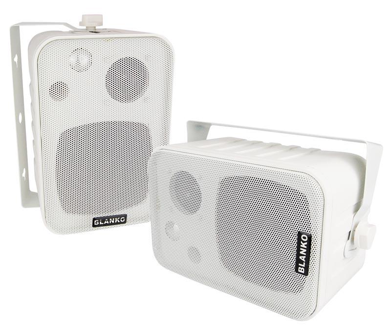 3 wege boxen mit halterung 120 watt lautsprecher f r decke und wand paar ebay. Black Bedroom Furniture Sets. Home Design Ideas