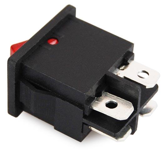 miniatur wippenschalter mini wippschalter schalter rot 2 polig ebay. Black Bedroom Furniture Sets. Home Design Ideas