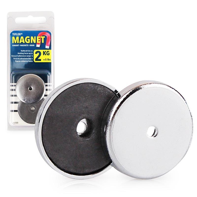 2 x rundmagnet starke magnete zum basteln mit chromblende 31 x 4 mm 2 kg. Black Bedroom Furniture Sets. Home Design Ideas