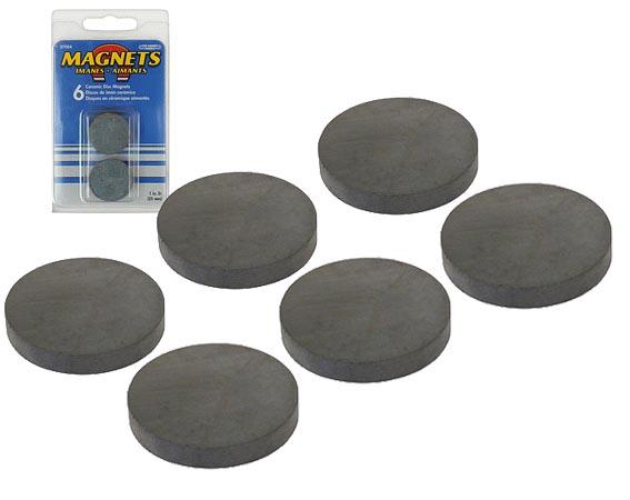 6 runde magnete magnet rund 25 x 4 mm starker runder keramikmagnet ebay. Black Bedroom Furniture Sets. Home Design Ideas
