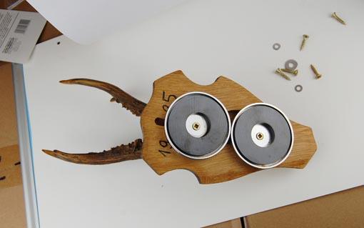 2 runde magnete magnet scheibe 31 x 4 mm 2 kg verchromt von tifler ebay. Black Bedroom Furniture Sets. Home Design Ideas