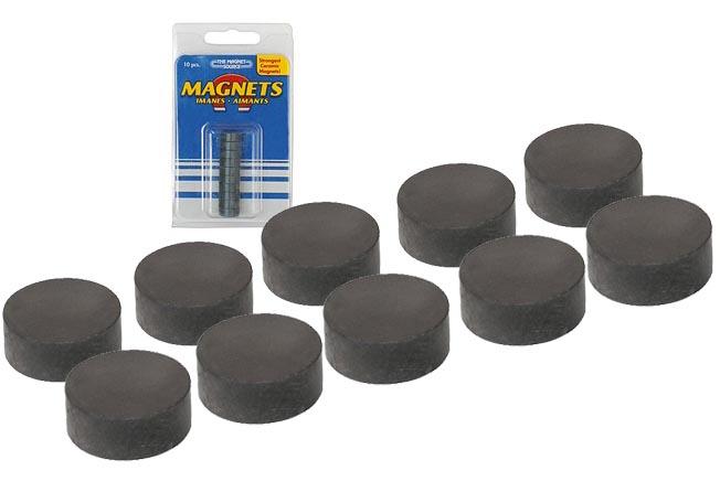 10 runde magnete magnet rund 12 7 x 4 75 mm starker runder keramik magnet ebay. Black Bedroom Furniture Sets. Home Design Ideas