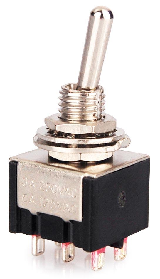 Miniatur Kippschalter, Schalter, 2 Polig, 6 Kontakte | eBay