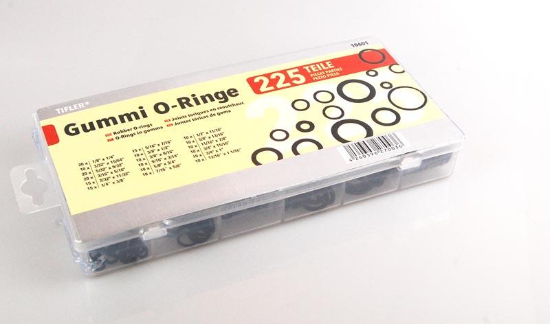 225 O-Ringe im Sortimentskasten